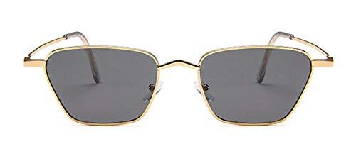 WSKPE Sonnenbrille Metall Kleinen Quadratischen Rahmen Sonnenbrille Frauen Männer Marine Objektiv Sonnenbrille Uv400 Gold Frame Streuscheibe Schwarz