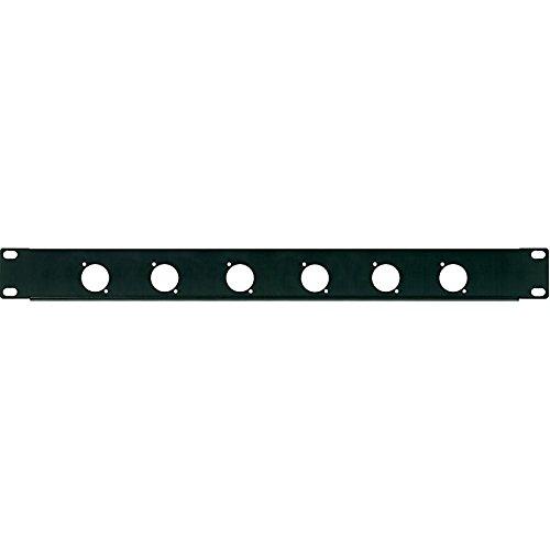 'Deckel perforiert Panel 1U Rack 19mit 6Bohrungen für Stecker XLR/Speakon (TM) (24mm Durchmesser)