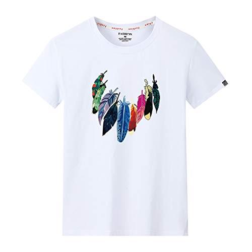 kolila Herren Kreative Gedruckt T Shirts Oberteile Casual Sommer Kurzarm Tops Klassisch Schwarz Weiß Grau S, M, L, XL, 2XL, 3XL