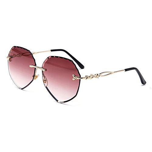 Lxc Neue Modesonnenbrille Färbt Randlosen Pfirsichherzsonnenbrilleozean-Strandspiegel Zeigen Sie Ihre Persönlichkeit und Ästhetik (Farbe : Red)