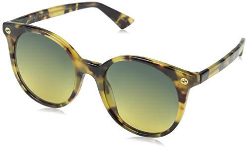 Gucci Damen GG0091S 003 Sonnenbrille, Braun (Avana/Grey), 52