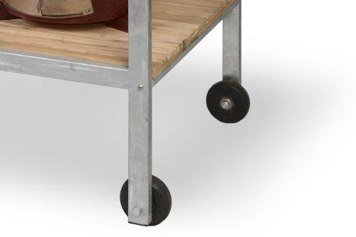 Monolith Grill – Tisch aus Teak mit Metallrahmen - 2