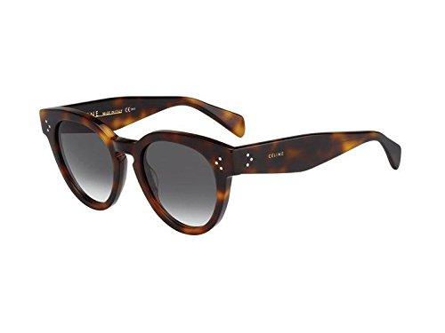 Celine per signora 41049Tortoise/Green gradient plastica telaio occhiali da sole - Tortoise Plastica Occhiali