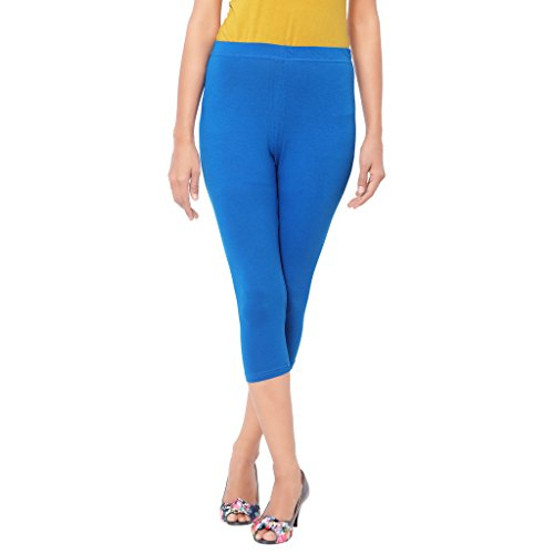 Leggings Capri Style Light Blue For Women | 95 % Cotton and 5 % Lycra| 3/4th leggings| Free Size Comfortable Premium Quality | Ultra Soft Fabric | High Waist For Girls | Best Fits 24\'\' To 34"|500|500|?|en|2|7d5491b78721b2ce3da14697932e8600|False|UNLIKELY|0.30533021688461304
