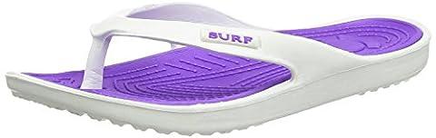 Ladies Eva Toe Post Surf Flip Flop Flat Summer Beach Sandals Shoe Size 3-8 (UK 6, Purple)