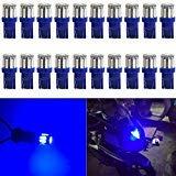 AMAZENAR 20-Pack Bright Blue 194 T10 168 2825 W5W 175 158 Ampoule 7014 10 SMD LED Light - Éclairage Intérieur de Voiture 12V pour Le Dôme de la Carte Dôme de Plaque D'immatriculation Latéral