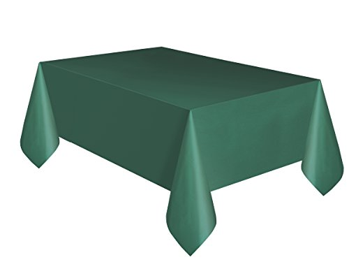 Unique Party 5090 – Forest Green Plastic Tablecloth, 9ft x 4.5ft