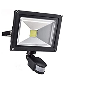 30W Led PIR Floodlight Motion Sensor, Waterproof IP66, Eye-care, Daylight white, 2400LM, Equate to 240W Halogen Light. Led PIR Security Lights with Motion Sensor for External, Outside, Parking Lot.