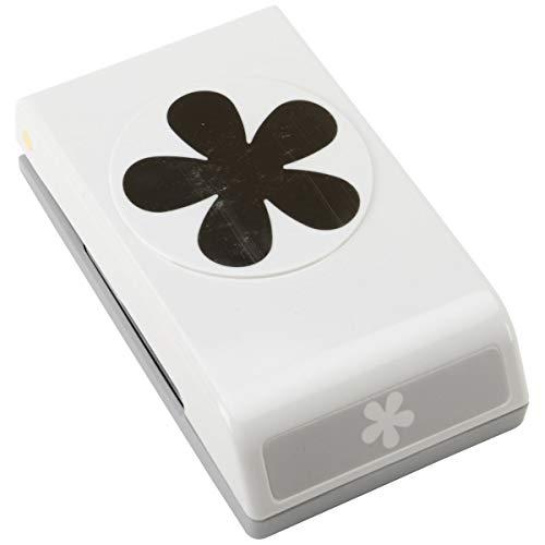 Unbekannt EK Tools Papierlocher Retro-Blumenmotiv grau -