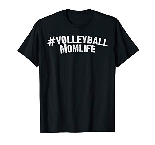Funny Mothers Day Hashtag Momlife Volleyball Sport Mom Gift T-Shirt (Volleyball Mom Shirts)