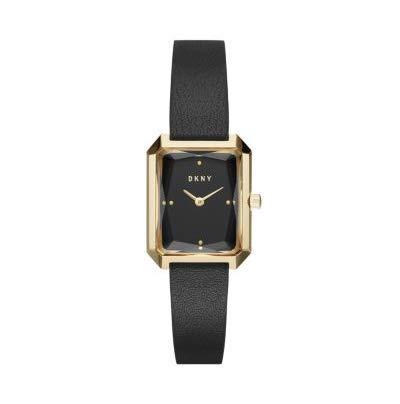 DKNY Damen Analog Quarz Uhr mit Leder Armband NY2644