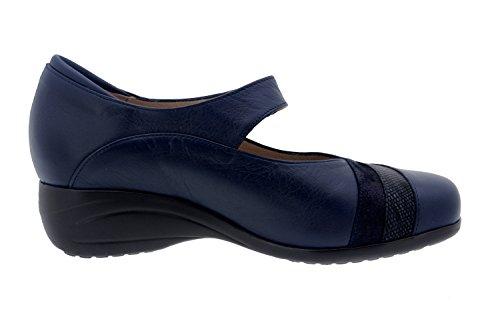 Scarpe donna comfort pelle Piesanto 7982 mary jean casual comfort larghezza speciale Marino