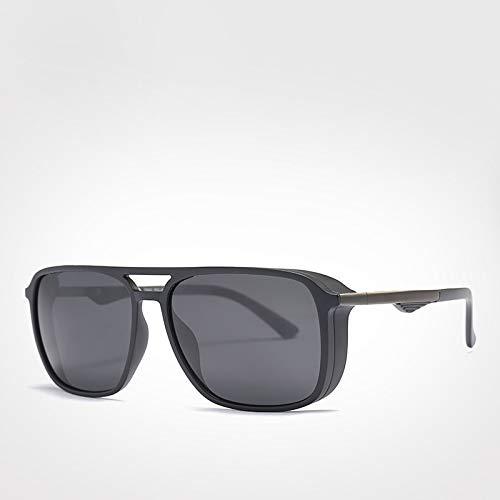 LXXSSRA Sonnenbrillen Rahmen Sonnenbrillen Big Square Polarized Sonnenbrillen Herren Schutzbrillen Brillenzubehör Uv400 Blackgray Sonnenbrillen Blackgray Sonnenbrillen