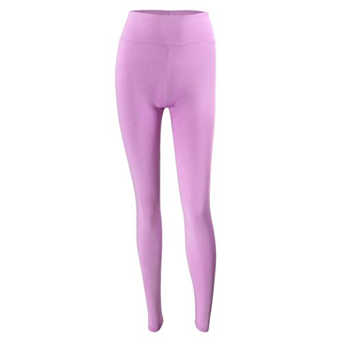 Pantaloni Yoga,Pantaloni Donne Alta Vita,Kword Leggings Fitness Per La Corsa In Palestra, Stretch Sport Pantaloni Pantalone Viola