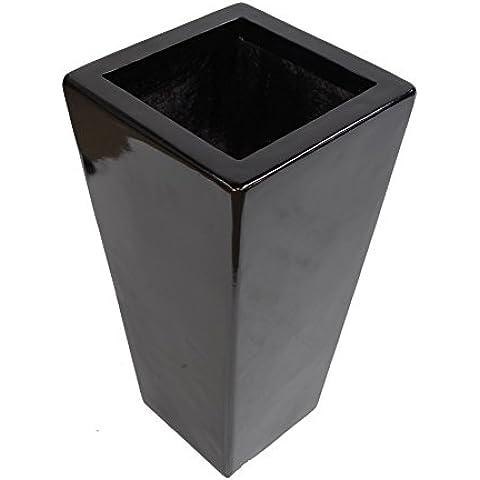 Geko 50cm altezza in vetroresina conici fioriera Glos, nero
