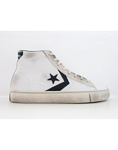 Converse Pro Lthr Vulc Mid, Sneaker a Collo Alto Uomo, Bianco (White/Black/Turtledove), 43 EU