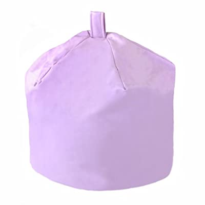 Large Children's Faux Leather Bean Bag Lilac Purple Kids Teen Game Chair Gamer Beans included