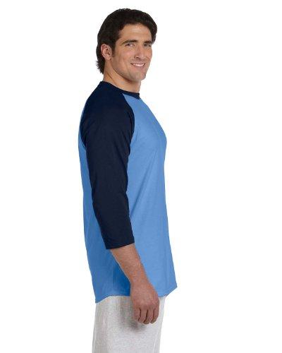 Champion 5.2 OZ. Raglan Baseball T-Shirt Light Blue/Navy
