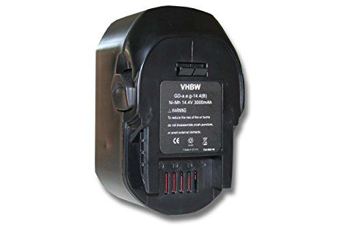 Vhbw batería Ni-MH 3000mAh 14.4V herramientas Würth