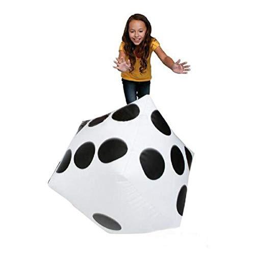 cm Jumbo große aufblasbare Luft Würfel Dot Diagonal Riesen Spielzeug Party ()