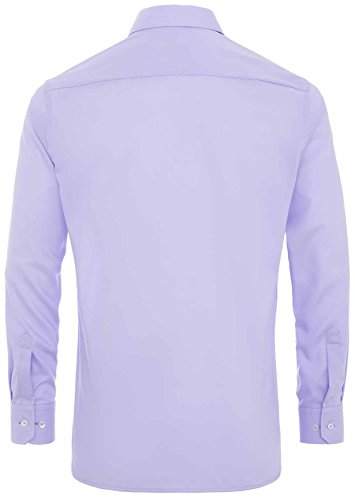 Eterna Herrenhemd Herren Baumwoll Hemd Baumwollhemd Business Freizeit Langarm Modern Fit Flieder Flieder