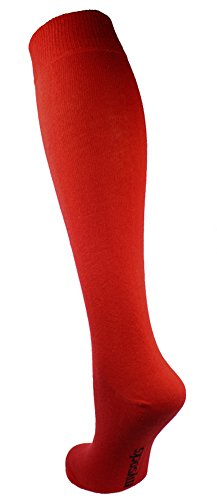 Mysocks® Unisex Knie Hohe lange Socken rot (Socken Männer Hohe)