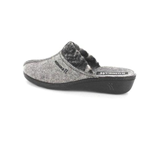 ROMIKA ROMILASTIC 392 6009254/706 Donna Pantofole Grigio