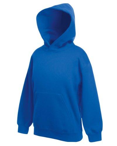 Fruit Of The Loom Kids Childrens Hoodie Hooded Sweatshirt Royal Blue 7-8 Years