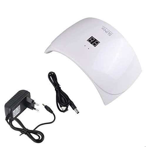 Crisnails® Secador de Uñas 24W Lámpara LED Profesional con Temporizador para UV Gel / Gel de Constructor...
