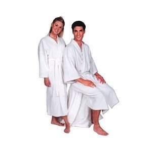Scalpmaster Terry Cloth Spa Robe, White (3046) by BURMAX CO (English Manual)