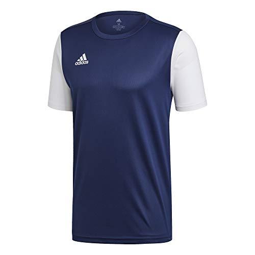 adidas Estro 19 JSY T-Shirt, Hombre, Dark Blue/White, L