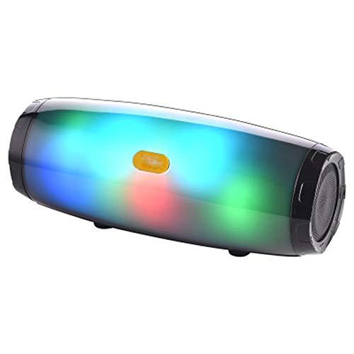 CCSHW Bunter tragbarer Bluetooth-Lautsprecher drahtloser Stereo-Surround-Lautsprecher großer Lautstärke Heller Hauptsport-Subwoofer des Autos im Freien,Black (Computer Im Klassenzimmer)