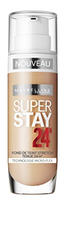 Maybelline Superstay 24H Foundation 30 Sand Frasco dispensador Líquido - base de maquillaje (Sand, Piel mixta, Piel seca, Piel normal, Piel grasosa, Piel sensible, Frasco dispensador, Líquido, Natural, 24 h)