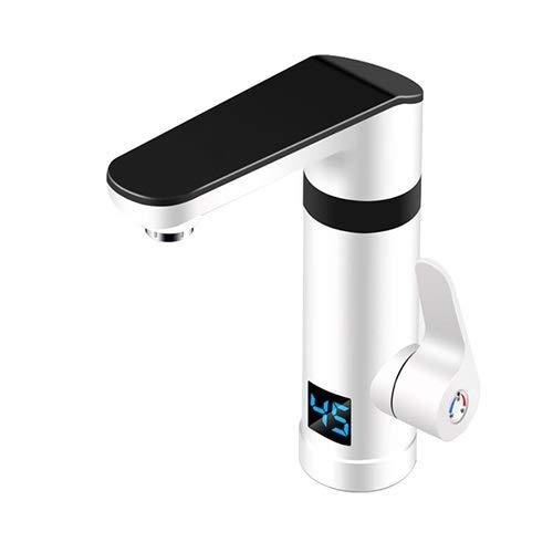 FTI-Reinigen Sie den Tap Elektrischer Wasserhahn Schnelle Wärme Sofortige Heizung Küche Schatz Schnelles Zuhause über Wasser Heißes Badezimmer Badezimmer Großer Bildschirm Temperaturanzeige Weiß - Heiß-wasser-filter-bildschirme