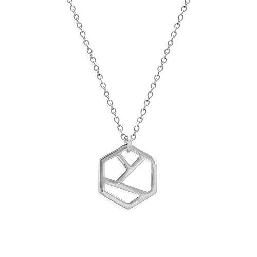 prettique Halskette aus 925 Sterlingsilber mit geometrischem Anhänger – 19 EUR