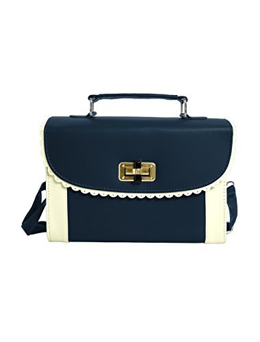allegra-k-ladies-scalloped-trim-detail-turn-lock-clasp-handbag-navy-blue