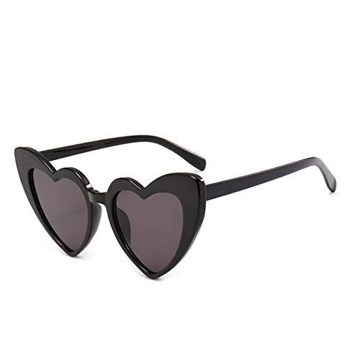 FGRYGF-eyewear Sport-Sonnenbrillen, Vintage Sonnenbrillen, Heart Sunglasses Women Cat Eye Sun Glasses Retro Love Heart Shaped Glasses Ladies Shopping Sunglass UV400 Bgray