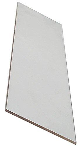 Glasscheibe für Pizzaofen Breite 95mm Länge 420mm Materialstärke 6mm