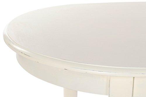 Tavolo Ovale Bianco : Bizzotto george tavolo ovale legno di olmo mdf pu bianco 150 x 85 cm
