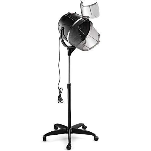 Costway casco asciugacapelli professionale, casco per asciugatura per salone parrucchiere