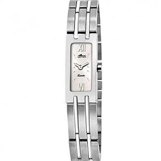 Ref. 15270/4 Reloj Lotus Señora, analógico, caja y brazalete de acero, sumergible 50 metros, garantía 2 años.