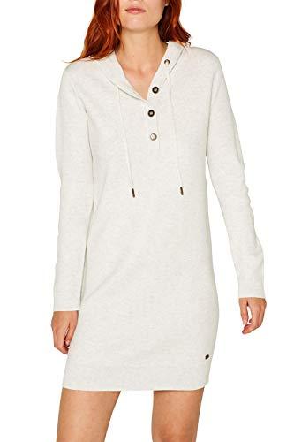 edc by ESPRIT Damen 089Cc1E014 Kleid, Grau (Pastel Grey 5 054), Small (Herstellergröße: S)
