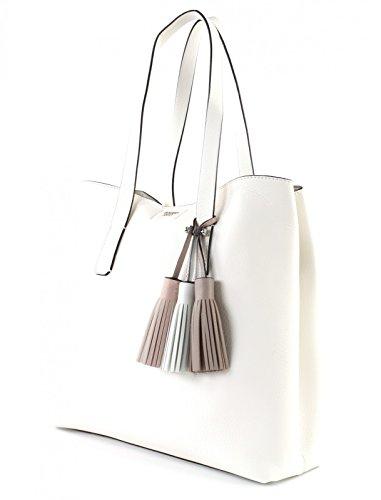 Guess Damen Bags Hobo Schultertasche, 12.5x33.5x39 centimeters Weiß (White)