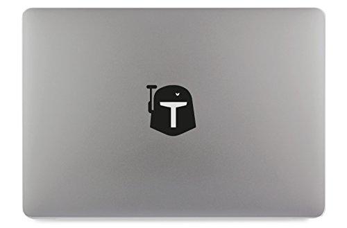 Helm Maske Kopf Apple MacBook Air Pro Aufkleber Skin Decal Sticker Vinyl (15