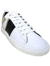 Versace Collection Scarpe Uomo Sneaker Bianca Oro Nero Pelle 1d99ef239f4