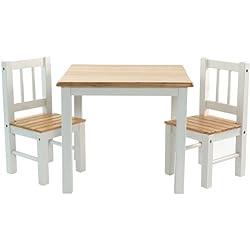 IB - Style - Meubles enfants NOA | 3 combinaisons |Set: 1 table et 2 chaises enfant - Chambre enfant Meuble enfant Mobilier Chaise d'enfant Baby