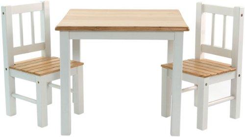 IB-Style - Kindersitzgruppe NOA | 3 Kombinationen | Set: 1x Tisch + 2X Stühle - Stuhl Truhenbank Kindermöbel Tisch Kindertisch Kinderstuhl -