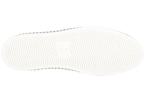 Baskets Hogan Rebel Hommes Nouvelles Chaussures En Cuir R260 Blanc Lacé Blanc