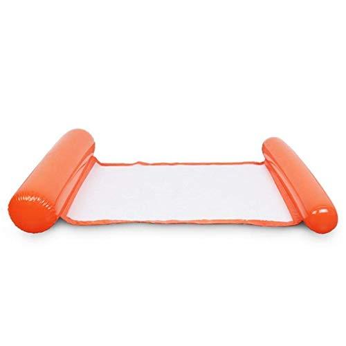 ODRD 4-in-1-Mehrzweck-Aufblasbare Hängematte (Sattel, Lounge Chair, Hängematte, Drifter) Tragbarer Poolschwimmer Schwimmen-Events und Partyangebot (Orange) (Und Sofa Sofas-clearance)