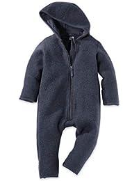 hessnatur Baby Mädchen und Jungen Unisex Wollfleece Overall aus Reiner Bio-Merinowolle